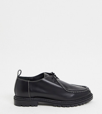 ASRA Exclusive Freddie lace up flat shoes in black leather