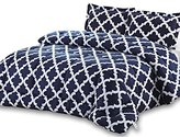 Utopia Bedding Printed Comforter Set (Navy, Queen) with 2 Pillow Shams - Luxurious Soft Brushed Microfiber - Goose Down Alternative Comforter