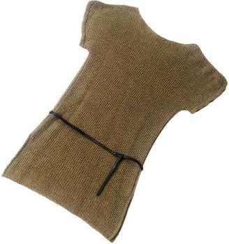 Hermes Camel Wool Dresses
