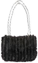 Paco Rabanne Iconic Knitted Mink Shoulder Bag
