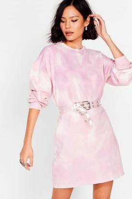 Nasty Gal Womens Shake It Wash Tie Dye Sweatshirt Dress - Purple - 6, Purple