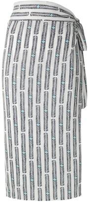 Orixa printed wrap skirt