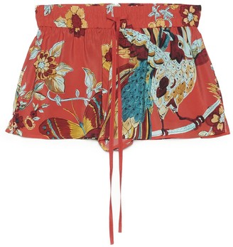 RED Valentino Bird Of Paradise Printed Shorts