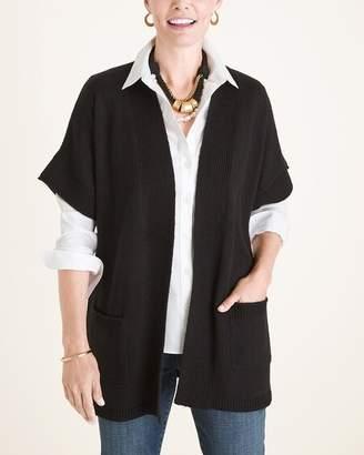 Chico's Chicos Textured Elbow-Sleeve Sweater Vest