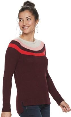 Sonoma Goods For Life Women's Pointelle Yoke Sweater
