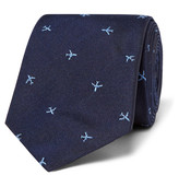 Paul Smith 6.5cm Embroidered Silk-Faille Tie