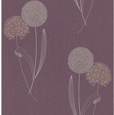 Graham & Brown Allium Wallpaper Sample - Purple