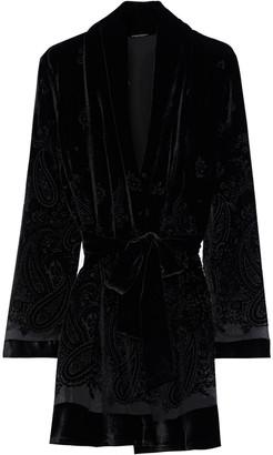 Elie Tahari Coley Belted Devore-velvet Jacket