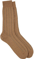 Barneys New York Men's Pembridge Mini-Cross-Pattern Mid-Calf Socks-TAN