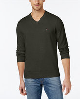 Tommy Hilfiger Men's Big & Tall Signature Solid V-Neck Sweater