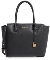 MICHAEL Michael Kors Mercer Leather Satchel - Black