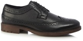 Red Herring Black Leather Brogues