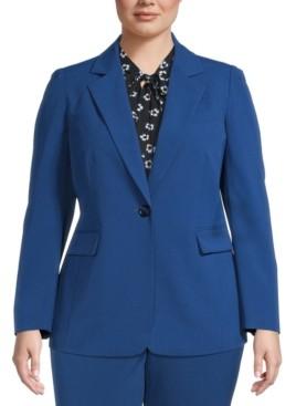 Bar III Plus Size One-Button Blazer, Created for Macy's