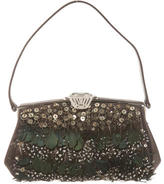 Judith Leiber Feahered Embellished Bag
