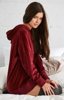 La Hearts Velour Oversized Pullover Hoodie