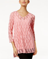 Alfani Burnout Illusion Top, Only at Macy's