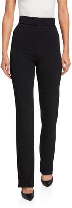 Alexis Lofton High-Rise Straight-Leg Pants