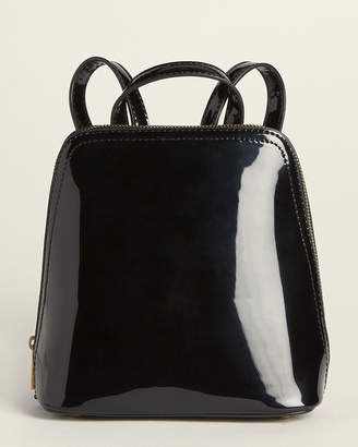 Street Level Black Patent Backpack