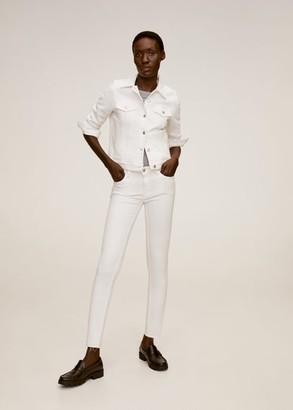MANGO Pocketed denim jacket white - XS - Women