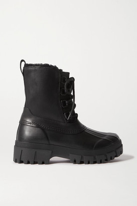 Rag & Bone Rb Winter Shearling-lined Leather And Rubber Ankle Boots - Black