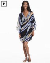 White House Black Market Petite Kimono Sleeve Embroidered Print Dress