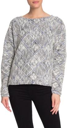 MelloDay Textured Bateau Neck Sweater