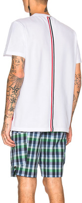Thom Browne Pique Classic Short Sleeve Tee in White | FWRD