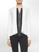 Calvin Klein Modified Shawl Collar Open-Front Jacket