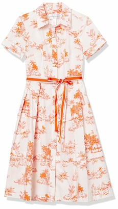 Donna Morgan Women's Short Sleeve Poplin Shirt Dress