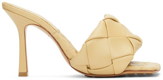 Bottega Veneta Beige Intrecciato The Lido Heeled Sandals