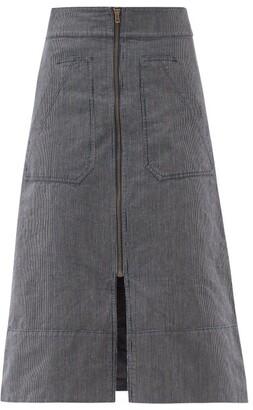 Ssōne Ssone - Oak Denim A-line Skirt - Denim