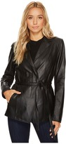 Andrew Marc Farley 25 Feather Leather Jacket Women's Coat