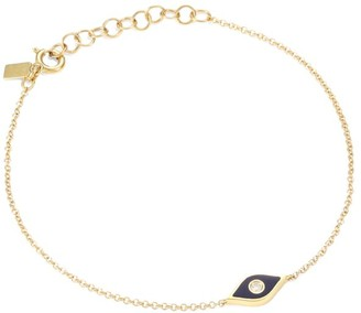 Ef Collection 14K Yellow Gold, Enamel & Diamond Evil Eye Pendant Bracelet