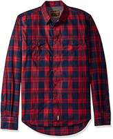 Wrangler Men's Retro Button Plaid Long Sleeve Shirt