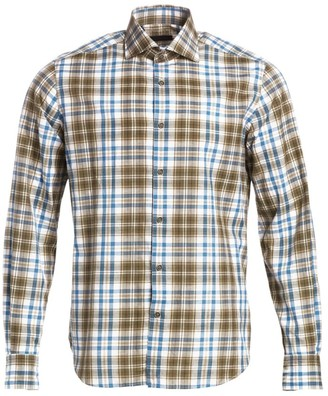 Saks Fifth Avenue COLLECTION Cotton Plaid Shirt