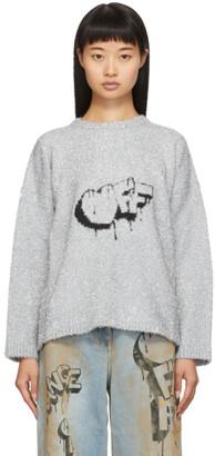 Off-White Off White Silver Bubble Off Sweater