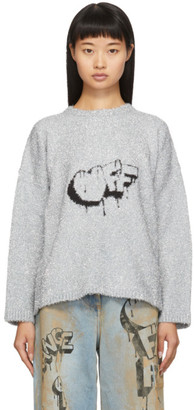 Off-White Silver Bubble Off Sweater