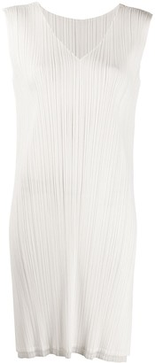 Pleats Please Issey Miyake Micro-Pleated Side Slit Dress