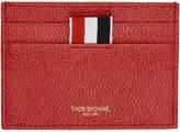 Thom Browne Red Single Card Holder
