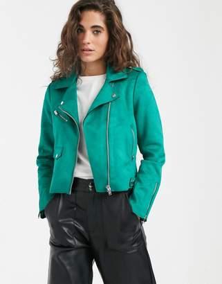 Only Sherry PU biker jacket-Green