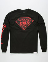 Diamond Supply Co. Rose Photo Rock Mens Long Sleeve T-Shirt