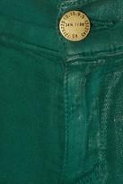 Current/Elliott The Jean Legging coated low-rise jeans