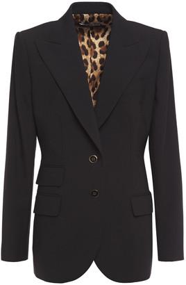 Dolce & Gabbana Wool-blend Crepe Blazer