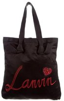Lanvin Embroidered Satin Tote