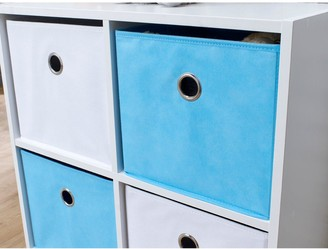 Lloyd Pascal 4 Cube Storage Unit Blue/White