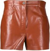 Salvatore Ferragamo leather shorts