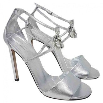 Gucci Double G Metallic Leather Sandals