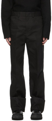 Jil Sander Black Turn Up Cuff Trousers