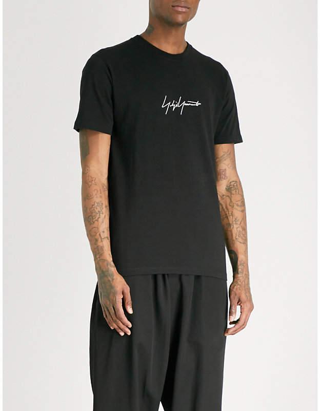 Yohji Yamamoto Signature-print cotton-jersey T-shirt
