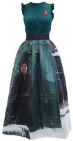 Undercover Suspiria-print Silk-satin Dress - Womens - Green Multi
